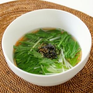 炊き合わせ風あっさり水菜のスープ