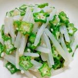 オクラともやしの味噌ラー油サラダ