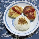 高野豆腐入りチキンハンバーグ