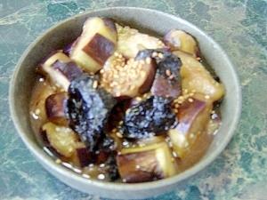 小さな野菜のおかず★ナスと韓国海苔の煮浸し★中華鍋