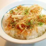 えのき茸と干しえびのゆずぽん酢炒め丼