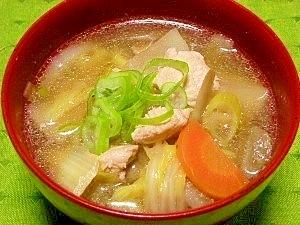 鶏肉と具だくさん野菜汁