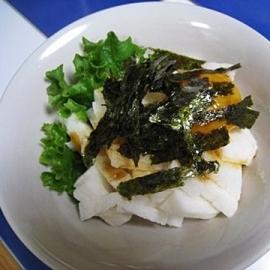 シャリシャリ「長芋と卵黄の和え物」お酒のお供に♪