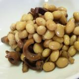 大豆とスルメの煮物