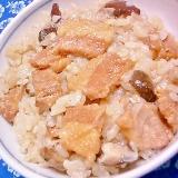 煮豚と椎茸の炊き込みご飯