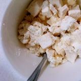 角切り木綿豆腐とチーズのコロコロおからホイップあえ