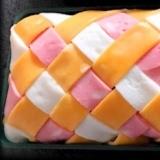 市松模様の薄焼き卵
