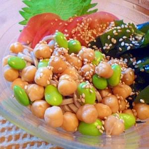 マクロビ・サラダ蕎麦