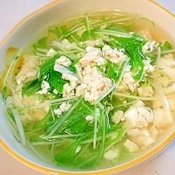 簡単で美味しい!豆腐と水菜のスープ