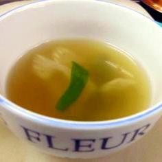 朝の100レシピ 26)パスタの茹で汁で簡単スープ