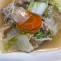 白菜と豚肉のうま煮炒め