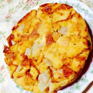 パンの耳が大活躍♪りんご&パンの耳のケーキ