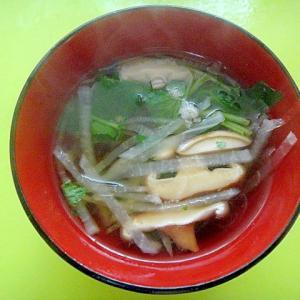 大根と椎茸三つ葉の醬油汁