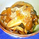 昆布と干し椎茸の炒め物