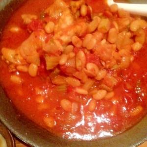 手羽元と白いんげん豆のトマト煮込み 圧力鍋レシピ
