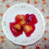 簡単☆赤しそジュースと桃のゼリー
