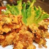 塩麹鶏肉の天ぷらはしっとりとウマイ!