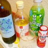ヨーグルトとサイダーと白ワインとりんご酢のお酒