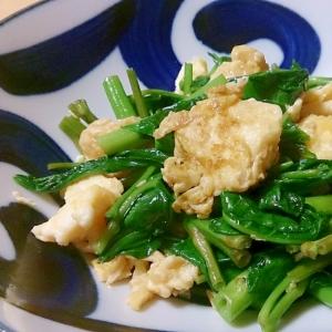 空心菜と卵のオイスターソース炒め