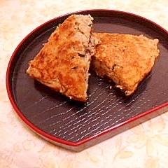 鉄分補給♪蕎麦粉とおからのおかずパンケーキ