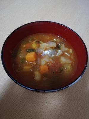 大豆と野菜の具だくさんミネストローネ
