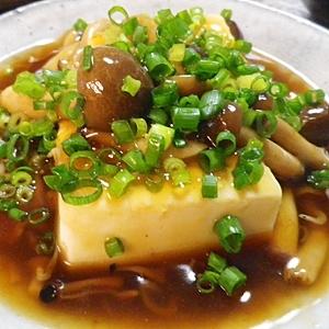 しめじあんかけ豆腐