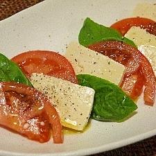 塩麹豆腐のヘルシーカプレーゼ