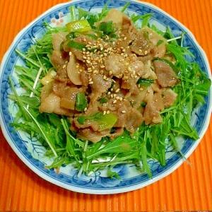 焼肉のタレで豚肉サラダ♪