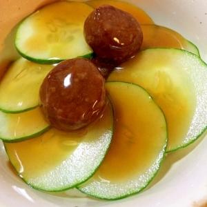 巨大胡瓜とミートボールの甘酢丼
