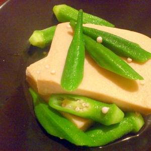 高野豆腐オクラ煮浸し
