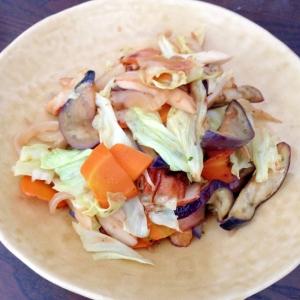 さつま揚げ入りさっぱり野菜炒め