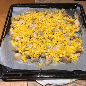 節約鶏ムネ肉レシピ 鶏ムネとコーンのオーブン焼き