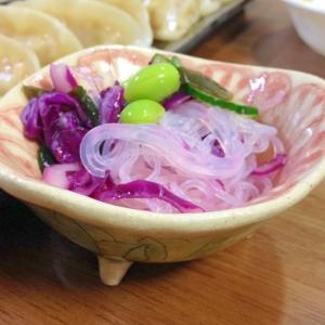 紫キャベツとすし酢で♪ピンク色に染まる酢の物