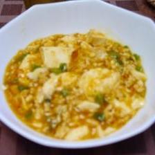 ピーマンと鶏ミンチの麻婆豆腐