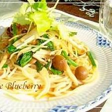 栄養たっぷり! 和風でおいしい納豆とキノコのパスタ