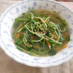 豆苗スープ