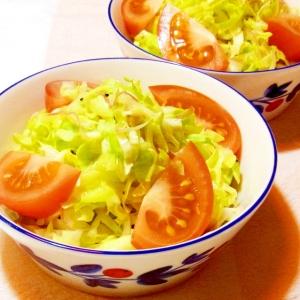 春キャベツと茗荷のサラダ