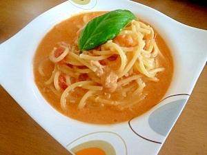フライパンだけ!トマトクリームのスープパスタ