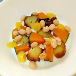 和スイーツ☆南京芋の豆きんとんヨーグルト♪