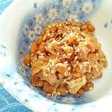 【お手伝いレシピ】納豆の食べ方-鮭節♪