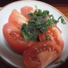 トマトとシソの醤油酢漬け