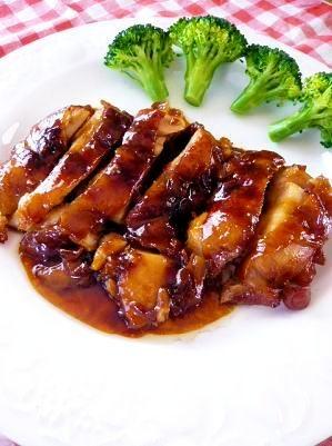 胡麻油&醤油で煮込んだ鶏の照り煮 ♪献立付き♪