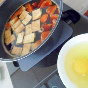 豆腐の卵絡め