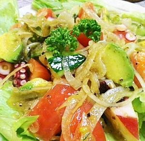 野菜もりもりタコのマリネ