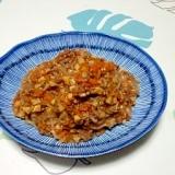 挽き肉と白滝の炒め物++