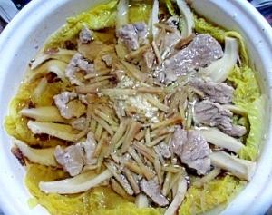 ポーク塩麹の白菜鍋