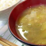 秋茄子と茗荷の味噌汁