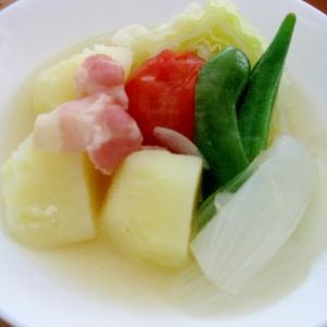 キャベツと夏野菜たっぷり!色鮮やかなポトフ