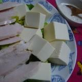 ヨーグルトドレッシングで☆鶏ハムと豆腐のサラダ