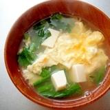豆腐とほうれん草のかき玉汁